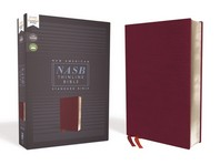 Nasb, Thinline Bible, Bonded Leather, Burgundy, Red Letter Edition, 1995 Text, Comfort Print