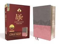 Niv, Life Application Study Bible, Third Edition, Large Print, Leathersoft, Gray/Pink, Red Letter Ed
