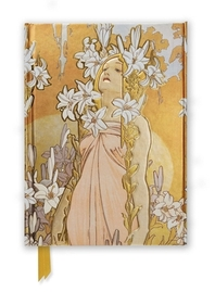 Mucha The Flowers, Lily (Foiled Journal)
