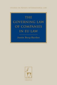 Governing Law of Companies in Eu Law