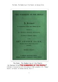 민중에 번호붙이기. The Book, The Numbering of the People, by George Allen