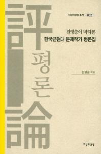 전영순이 바라본 한국근현대 문제작가 평론집