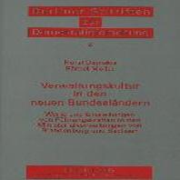 Verwaltungskultur in Den Neuen Bundeslaendern