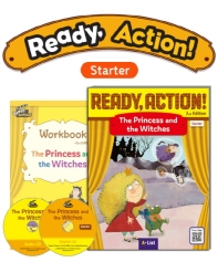 Pack-Ready Action 2E(Starter): The Princess and the Witches[SB+WB+CD]
