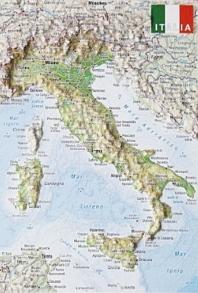 미니 입체지도 이탈리아