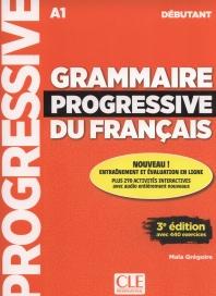 (최신개정판) Grammaire progressive du francais - Niveau debutant - 3 edition - Livre + CD