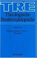 Theologische Realenzyklopaedie, Band 24 : Napoleonische Epoche - Obrigkeit (ISBN : 9783110145960)