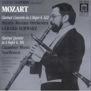 David Shifrin / 모차르트 : 클라리넷 협주곡, 클라리넷 오중주 (수입/DE3020)