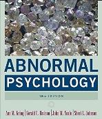 Abnormal Psychology 10th edition