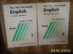 시조사 삼육영어학원 2권/ You Too Can Speak English an oral approach Book 1.2 -사진.설명란참조