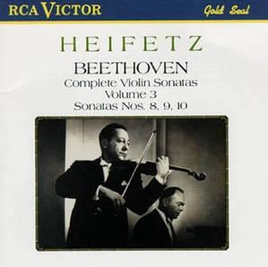 Jascha Heifetz / Beethoven : Complete Violin Sonatas, Vol. 3 - Nos. 8, 9, 10 (수입/77062RG)