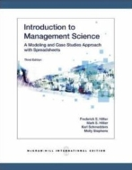 introduction to management science 3/e: a modeling and case studies approach with spreadsheets