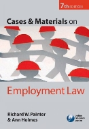 Cases and Materials on Employment Law, 7/ed  (ISBN : 9780199235858)