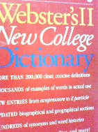 Webster's II New College Dictionary  /Houghton Mifflin Company