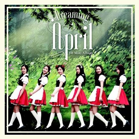 에이프릴 (April) - Dreaming (MINI ALBUM) [홍보용 음반, 친필싸인, 겉 케이스에 사용감 있음]