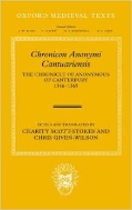 Chronicon Anonymi Cantuariensis : The Chronicle of Anonymous of Canterbury 1346-1365 (ISBN : 9780199297146)
