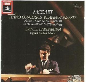 Daniel Barenboim / Mozart : Piano Concertos Nos. 21 & 27 (수입/CDC7472692)