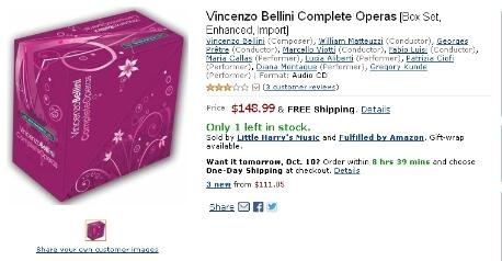 Vincenzo Bellini Complete Operas [Box set]