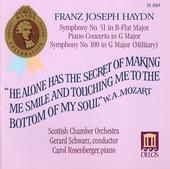 Gerard Schwarz, Carol Rosenberger / Haydn : Symphony No. 51 & 100 - Keyboard Concerto In G (수입/DE3064)