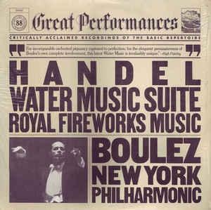 [미개봉] Pierre Boulez / 헨델 : 수상음악, 왕궁의 불꽃놀이 (Handel : Water Music, Music for the Royal Fireworks) (미개봉/CCK7962)