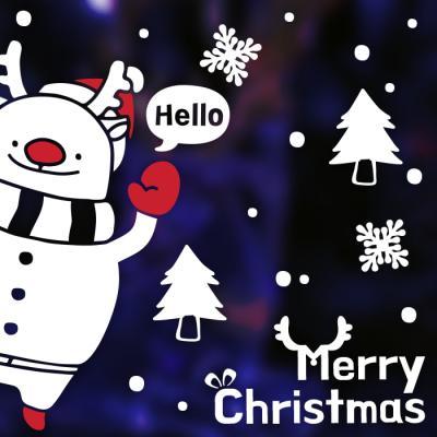제제데코 크리스마스 눈꽃 스티커 장식 CMS4J223