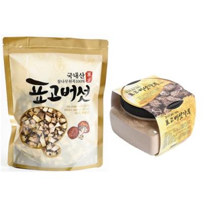 [참나무] 표고버섯 깍둑썰기 100gx2봉+분말 100gx2봉