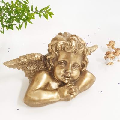 로코코 천사 조각상 골드