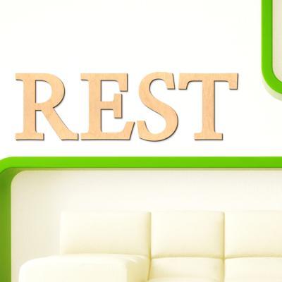 우드스티커- REST (반제품) 레터링 글자 W467 입체