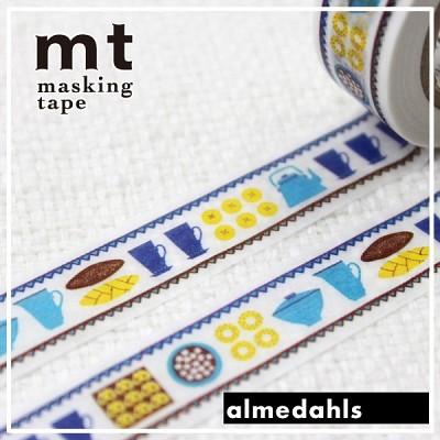 폭15mm-북유럽 리빙 브랜드 Almedahls 작품-일본 mt 디자인 마스킹테이프 Cafe Time hd305-Alme01