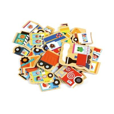 유아 자석 퍼니 퍼즐 놀이 학습 교구 탈것