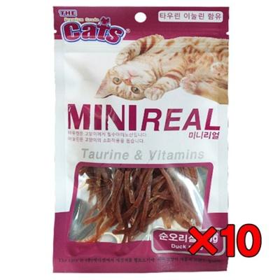 더캣츠 미니리얼 70g(순오리살) 고양이 져키 간식 X10