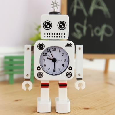 New 감성 로봇 알람 시계 (화이트) 추카추카넷