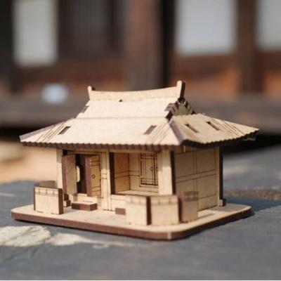 3D입체퍼즐 나무퍼즐 기와집 만들기 수업 놀이키트 장난감 집콕놀이 취미