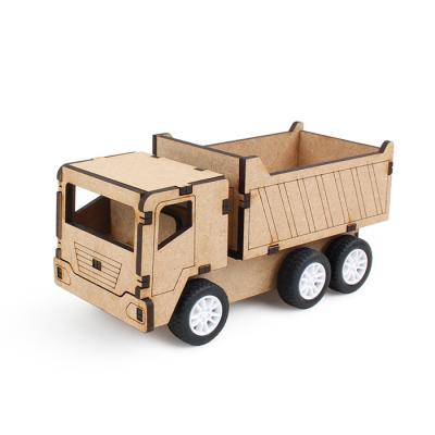 풀백 목재 입체퍼즐 - 덤프트럭