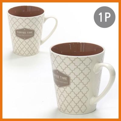 카페 머그 1P 브라운 도자기 커피 주스 아이스티 물컵