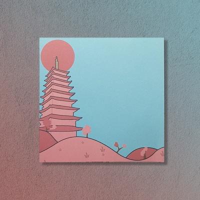 경주 벚꽃 풍경 황룡사 떡메모지