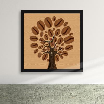 cw027-자라나는 커피나무 액자벽시계_디자인액자시계