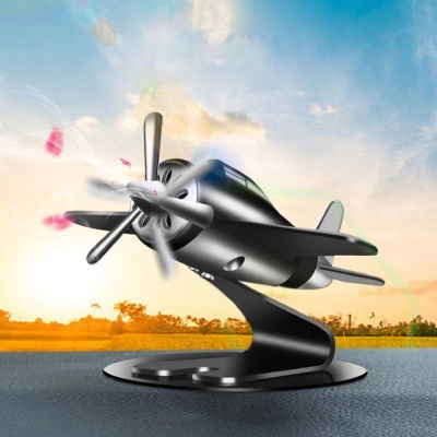 자동차 방향제 프로펠러 비행기 태양열 차량용 장식품
