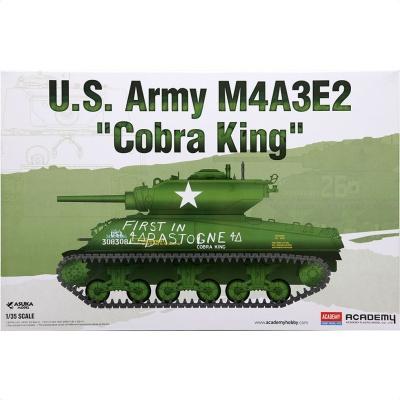 아카데미 미육군 M4A3E2 코브라킹 프라모델 모형 탱크