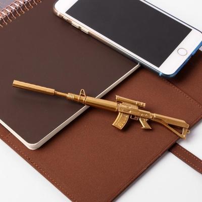 골드 기관총 중성펜