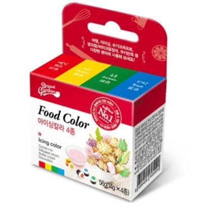 안전한 식용색소-기본4색세트(아이싱칼라/마카롱색소)