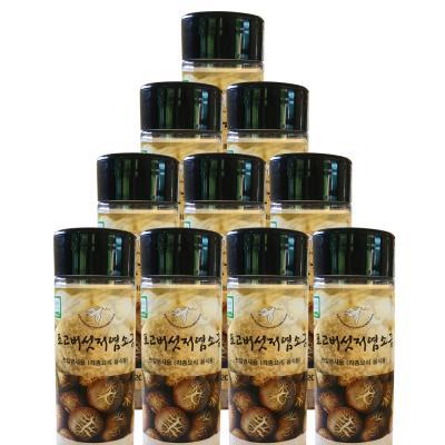 무농약 표고버섯 저염소금 120gx10통 표고버섯 25%