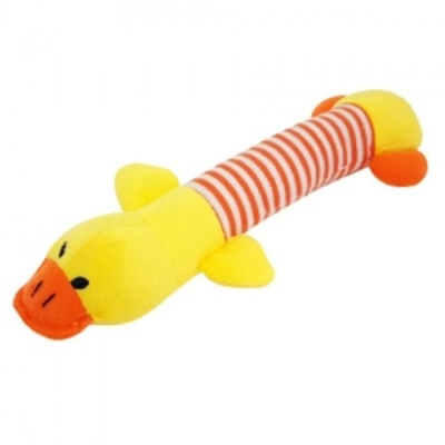 애견 강아지 봉제 오리 길쭉이 장난감 삑삑이 인형