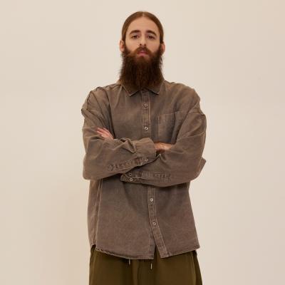 CB 아콘 피그먼트 셔츠자켓 (브라운)