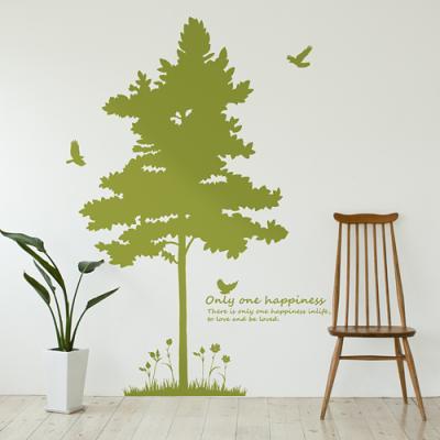 실루엣 (반제품A) 나무1그루 그래픽스티커 인테리어  집꾸미기 벽장식 데코 스티커