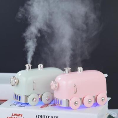 [햅시] 뭉게구름 초미세입자 초음파 LED 미니가습기