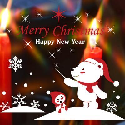 제제데코 크리스마스 눈꽃 스티커 장식 CMS4J249