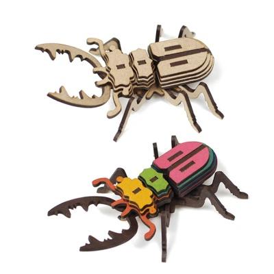 사슴벌레 곤충 프라모델 나무 조립 모형 DIY 만들기