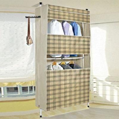 커버 2단 행거 생활 용품 수납 공간 활용 이동식 옷장