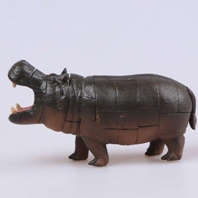 어린이 아동 4D 동물 탐구 학습 모형 조립 퍼즐 하마